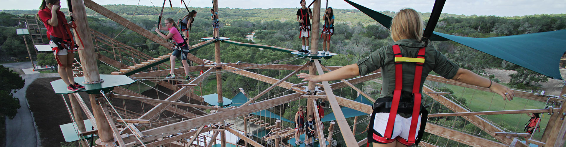 Ropes Course high above ground