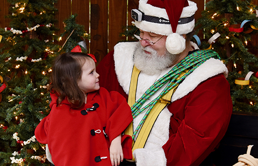 Little Girl with Spelunker Claus