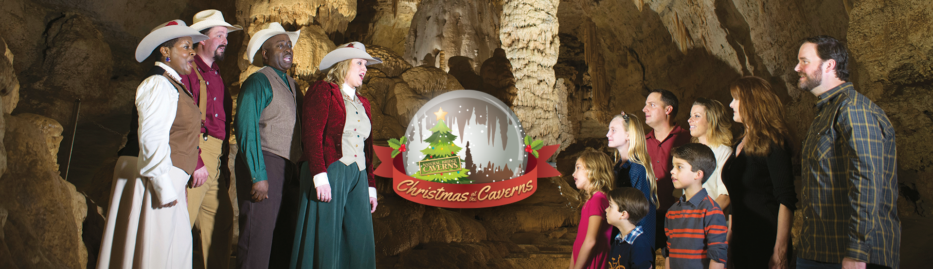 Caroling in the Caverns with Logo