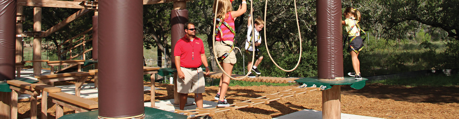 Children on Ropes Course