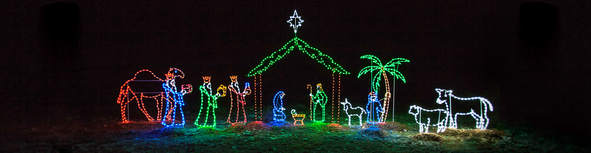 Nativity Scene Christmas Lights