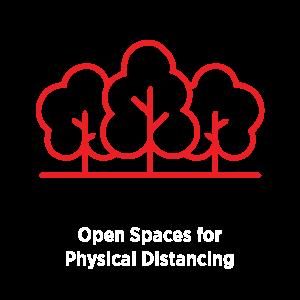 Open Spaces Provided Icon for COVID Protocols | Natural Bridge Caverns
