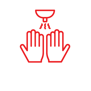 Hand Washing and Sanitizer Stations Available Icon for COVID Protocols | Natural Bridge Caverns