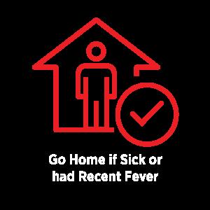 Stay Home if Sick Icon for COVID Protocols | Natural Bridge Caverns