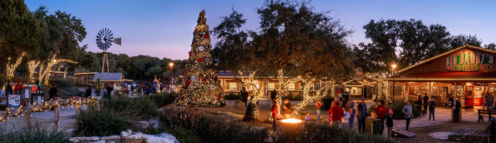 Christmas in Discovery Village | Natural Bridge Caverns