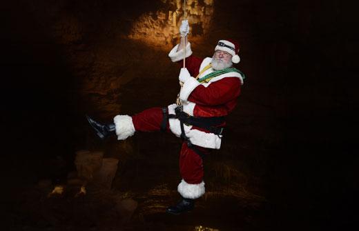 Visit with Santa | Natural Bridge Caverns